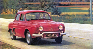 Renault Dauphine model 1961 sodpružením Aérostable, tehdy označovaný jako největší úspěch francouzské automobilové konstrukce