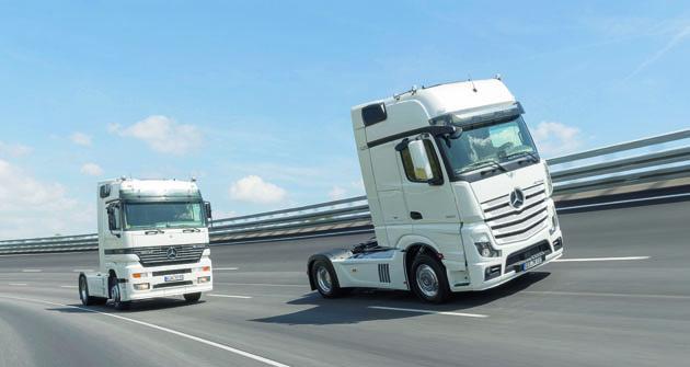 """Mercedes-Benz Actros je dvacet let doslovným etalonem silničních tahačů. Zatu dobu """"ujel"""", co se konstrukce týká, pořádný kus cesty."""
