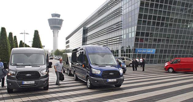 Začátek testovací trasy u mnichovského letiště