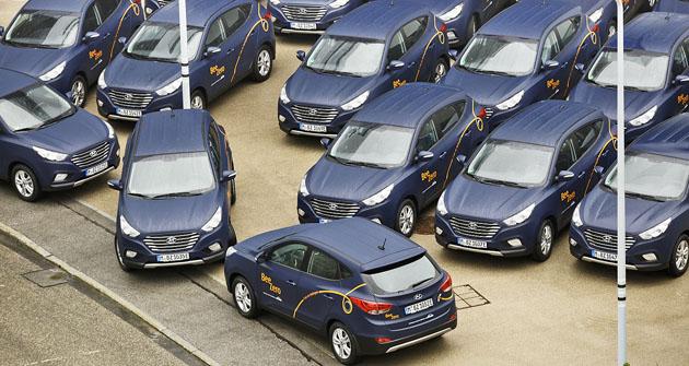 Padesát vozů Hyundai iX35 Fuel Cell již jezdí vMnichově