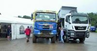 Vedle truck trialových speciálů mohli návštěvníci evropského šampionátu zhlédnout též nabídku standardních nákladních vozidel MAN.