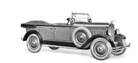 První šestiválcová Alfa 8/25 HP, představená v září 1927 v provedení faeton