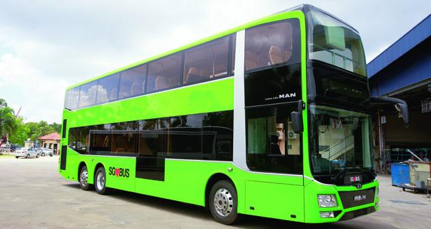 U nových patrových  autobusů pro Singapur spolupracoval MAN Truck & Bus smalajským výrobcem nástaveb Gemilang.