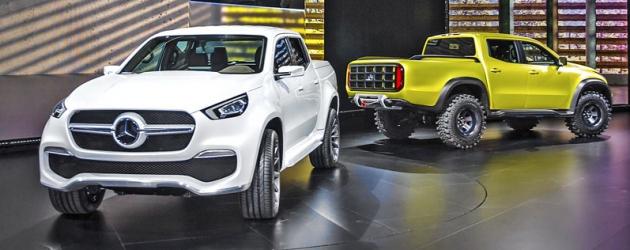 Mercedes představil hned dva koncepty třídy X – jeden civilní, druhý terénní