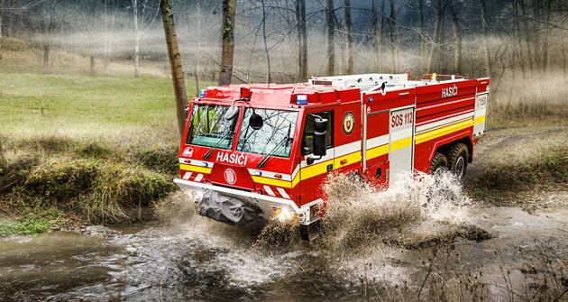 Modernizovaný hasičský speciál Tatra řady Force