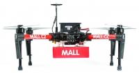 Ktestu byl použit čtyřvrtulový  dron Matrice 100 odspolečnosti DJI výrazně upravený pro potřeby testu.