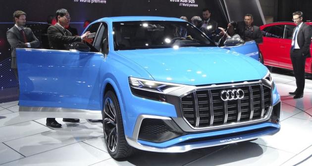 Audi Q8 e-tron Concept, předobraz sériového crossoveru  pro rok 2018
