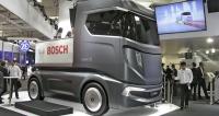 Bosch Vision X plný demonstračních novinek (např. energeticky méně náročný elektrohydraulický posilovač řízení pro těžké nákladní automobily)