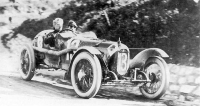 """Začátky """"čtyřlístku"""".  Alfa Romeo RLTF při Targa Florio  15. dubna 1923"""