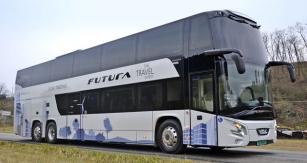 Patrový autobus VDL Futura působí impozantně