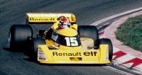 První Renault RS01 při testování na okruhu Paul Ricard vLeCastellet (1977)