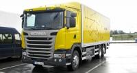 Scania G320  B6x2 NB shybridním pohonem proměstský rozvážkový provoz