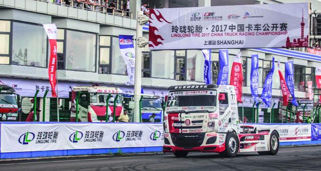 VŠanghaji, stejně jako vPekingu nazačátku letošní sezony, David Vršecký sTatrou vyhrál obě dvě bodované jízdy.