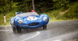 Závodní Jaguar D-Type se vyráběl vletech 1954 až 1957. Pohání jej řadový šestiválec 3,4 litru
