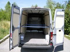 Nákladový prostor testovaného vozidla měl objem 14,3 m3
