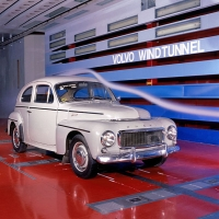 Volvo PV544 ve firemním aerodynamickém tunelu