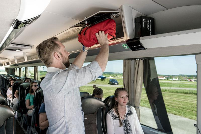 Dostatečný prostor pro příruční zavazadla