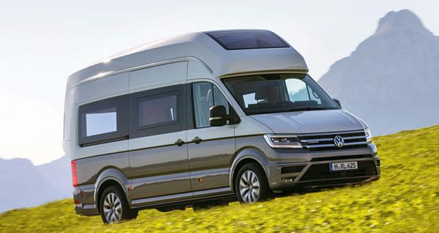 Studie California XXL byla postavena na základě nového VW Crafter
