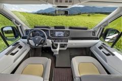 Základem je interiér vnejvyšším stupni výbavy nabízené pro VW Crafter