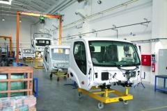Asambláž kabin nového vozu Avia Initia Euro 6.