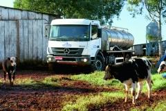 Mercedes-Benz Atego v úpravě pro svoz mléka.