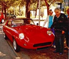 Jedna z velmi mála fotografií Jacquese Duranda s kupé Arista