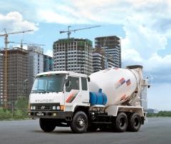 Do portfolia Hyundai patří itěžké nákladní vozy (domíchávač betonu 6x4)