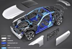 Hybridní je také samotná karoserie. Cílem je použití optimálního materiálu pro dané místo
