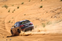 Řízení Levante v hlubokém pouštním písku bylo zajímavou a podmanivou zkušeností