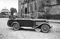 Čtyřdveřový kabriolet Z 9 skaroserií Sodomka, zhotovený na jaře 1930