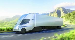 """Najedno superdobití akumulátorů ze superrychlého dobíječe by měla souprava urazit vustáleném dálničním provozu při ustálené rychlosti až 500 mil (805km) – těch předpokladů vyjádřených slovem """"ustálený"""" je však poněkud moc."""