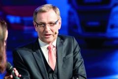 Jednatel agenerální ředitel MAN Truck & Bus Czech Republic, s.r.o. pan Reinhard Faderl pronesl zdravici.