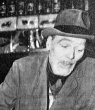 Vzácná fotografie Germaina Lamberta na sklonku života, patrně z jeho kavárny