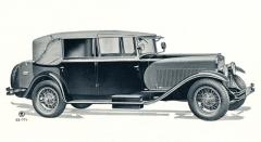 Luxusní čtyřdveřový kabriolet Pullman zhotovený pražskou karosárnou J.O.Jech