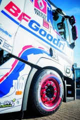 Evropská premiéra pneumatik BFGoodrich pro nákladní vozidla aautobusy proběhla naveletrhu Solutrans vLyonu.
