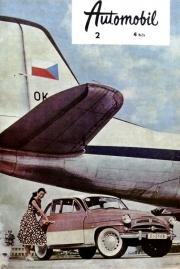 Titulní strana únorového Automobilu v roce 1959