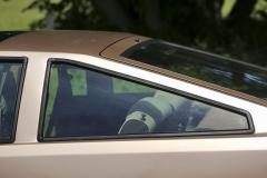 Typickým prvkem verze GT je rozměrné boční okno ve tvaru trojúhelníku
