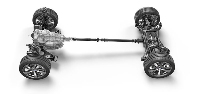 "Subaru-awd – Schéma pohonu všech kol ""Symmetrical AWD"" Subaru Forester"