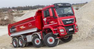 Čtyřnápravová vozidla MAN TGS 8x8 mají velmi dobrou pověst a to díky dokonale prověřeným konstrukčním řešením