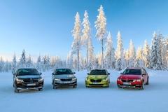 Škoda nabízí pohonvšech kol večtyřech svých modelových řadách. Techniku sdílí, naladěním seliší