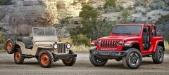 Krátký Jeep Wrangler JL koncepčně vychází z poválečné série CJ (Civilian Jeep)