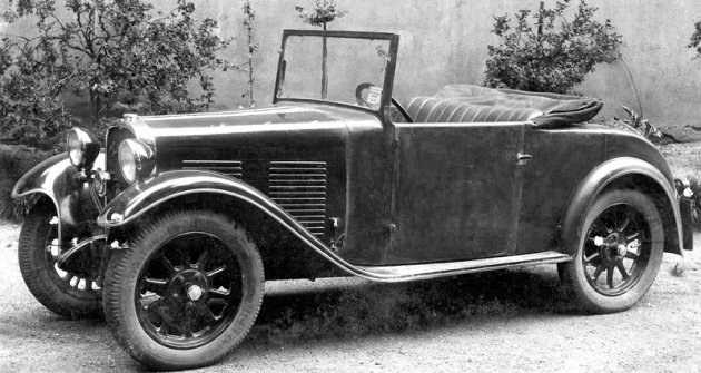Roadster Hara, s nímž Alois Halašta v červnu 1932 absolvoval lounskou soutěž