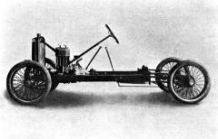 Snímek podvozku cyclecaru Bohumila Pánka otiskl v září 1921 časopis Auto
