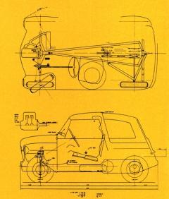 Projekt 355 je prvotinou bratří van Doorneových s převodovkou Variomatic vzadu advouválcem 250 cm3 vpředu