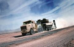 Oshkosh HET (Heavy Equipment Transporter)
