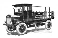 První sériový Oshkosh typ A ajeho patentovaný pohon všech kol (1918)