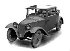Prototyp polokabrioletu Tatra 57 z roku 1931 bez stupaček mezi blatníky