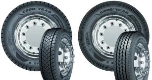 Společnost Goodyear uvádí  natrh nové pneumatiky KMAX S aKMAX D vrozměrech 17.5 a19.5 pro řízené ihnané nápravy