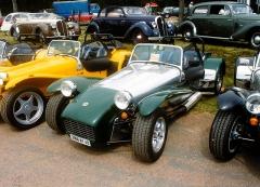 Colin Champan vyráběl Lotus Seven ve čtyřech sériích 1957 – 1972, pak prodal licenci Caterham Cars, kde pokračuje výroba dodnes
