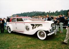 Speciálně karosovaný kompaktní typ JN (Berline by Rollston z poslední série 1937) a jeho řadový osmiválec 6,9litru